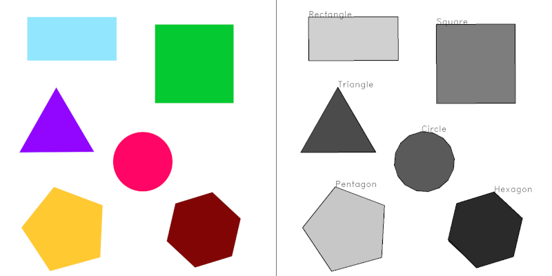 shapes result screenshot